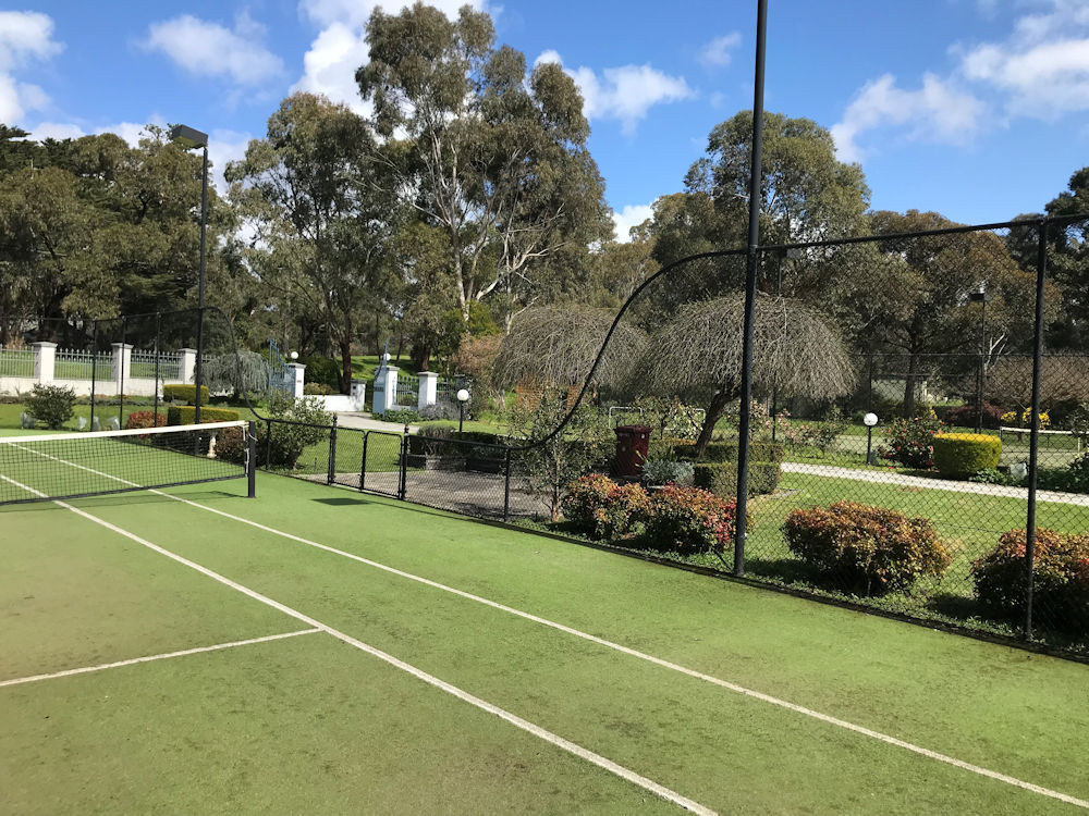 Ultracourts Tennis Court Builders - Curved dropdowns Melbourne