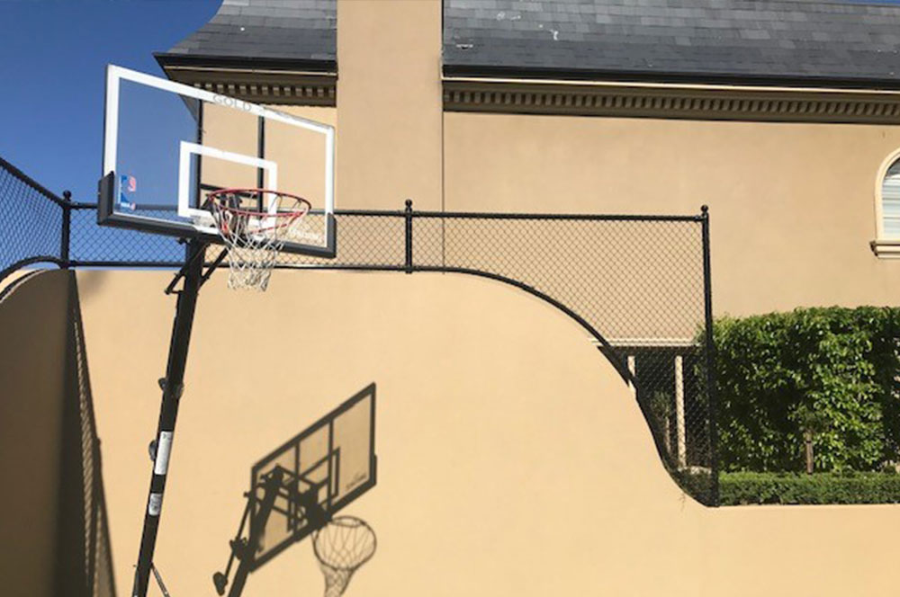 Ultracourts - Court Accessories - Curved Dropdown and Basketball Ring