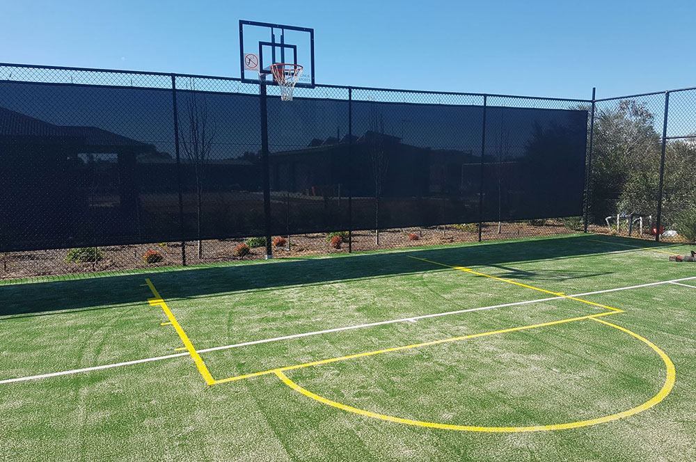 Ultracourts - Tennis Court Accessories - Basketball Hoop and Lines