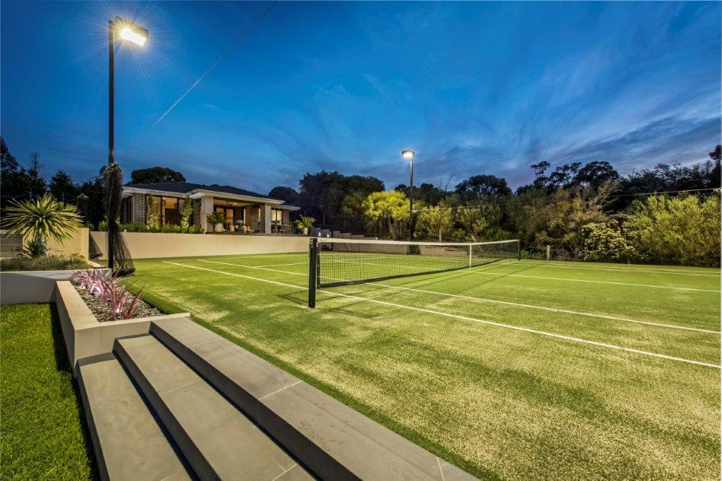 Ultracourts Tennis Court Builders - Tennis Court Lighting - Curved Light Towers