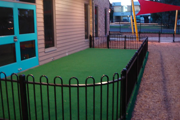 Ultracourts Tennis Court Builders - Associated Works - Child Care Centre - Short Pile Synthetic Grass