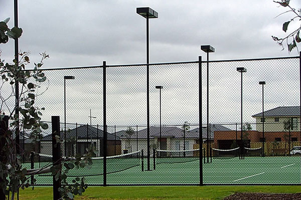 Ultracourts Tennis Court Builders - Tennis Court Lighting - Aurora Park 4 Multipurpose Courts